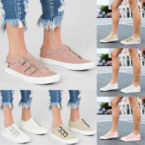 New-Womens-Ladies-Trainers-Slip-On-Flat-Bling-Zip-Gym-Sneakers-Pumps-Shoes-Size
