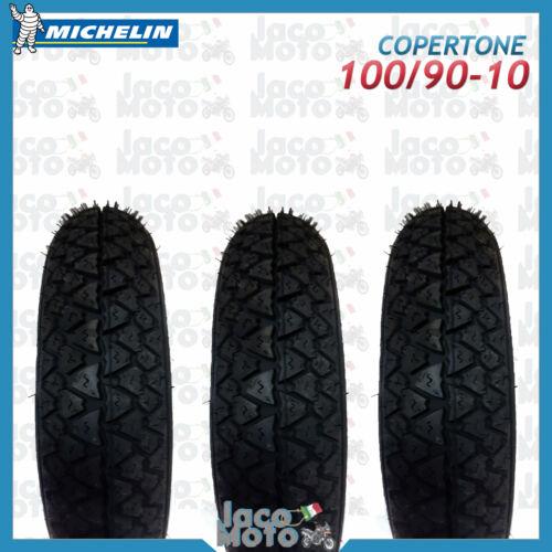 Tris 3 Copertoni Gomme Pneumatici Ruote MICHELIN 100//90-10 S83 PIAGGIO APE 50