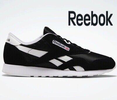 ⚫ 2019 Authentic REEBOK CLASSIC NYLON ® ( Men Size UK 7.5 EUR 41.5 ) Black White | eBay