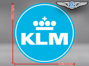 KLM NEW LOGO ROUND DECAL / STICKER