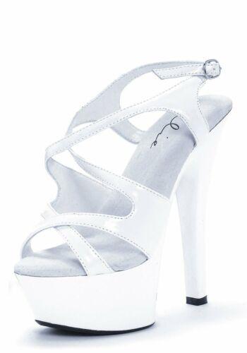 Ellie Shoes 601-LANCE Women/'s 6 Inch Heel Strappy Platform Sandal