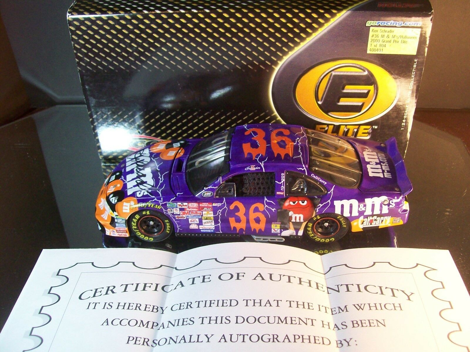 Ken Schrader M&M's Halloween AUTOGRAPHED 2000 Pontiac Grand Prix Elite 804