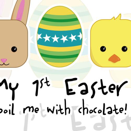 Mon 1st Pâques gâcher moi avec du Chocolat Dirty Fingers bébé unisexe Feeding Bib