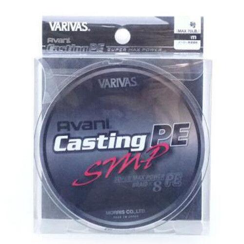 VARIVAS Avani Casting PE SMP X8 Braided Line 300m Super Max energia Select LB