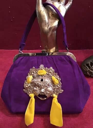 Vintage 60's 70's Vintage Purple Swedish Hand Bag