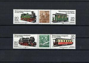 DDR-Zusammendrucke-Schmalspurbahnen-1980-Postfrisch