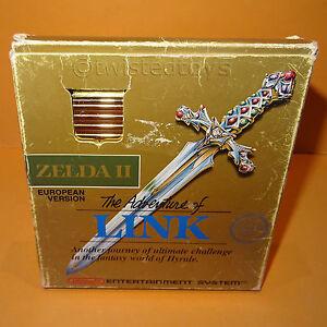 VINTAGE-1988-NINTENDO-ENTERTAINMENT-SYSTEM-NES-ZELDA-II-GAME-EUROPEAN-PAL-BOXED
