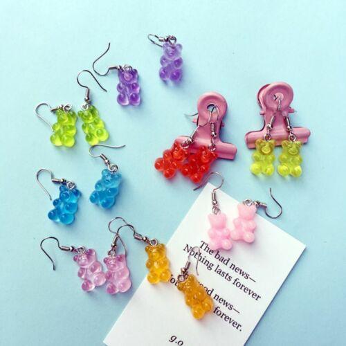 1Pair Creative Mini Gummy Bear Earrings Female Hook Dangle Fashion Jewelry Gift