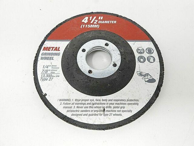 Norton Metal Grinding Wheel Model# 66252843607 Dia. 4.5in ...