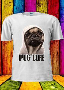 Pug-Life-Dog-Funny-With-Hat-Dope-Swag-T-shirt-Vest-Tank-Top-Men-Women-Unisex-158
