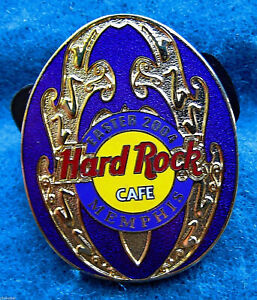 Memphis-Oro-Decorativa-Violeta-Huevo-de-Pascua-Serie-2004-Hard-Rock-Cafe-Pin-Le