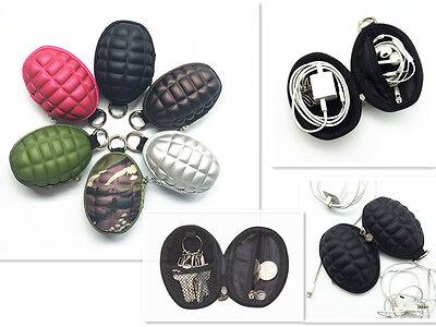 Hand Grenade Coin Purse & Key Holder Bag Earphone Case Handy Pouch Wallet