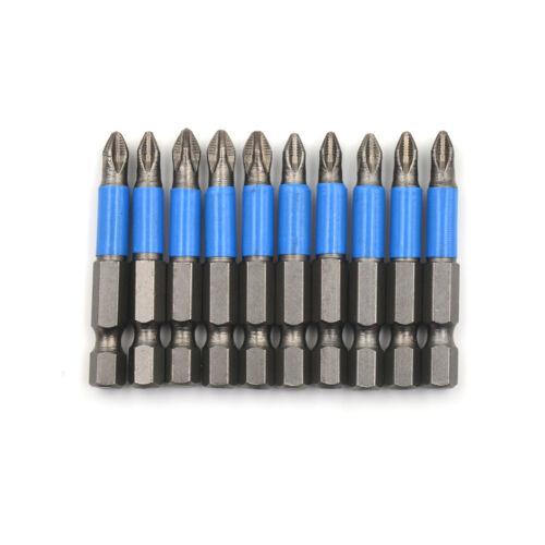 10X 1//4/'/' 50mm Anti Slip Magnetic Screwdriver Ph2 Head Screw Driver Bit Tool LDZ