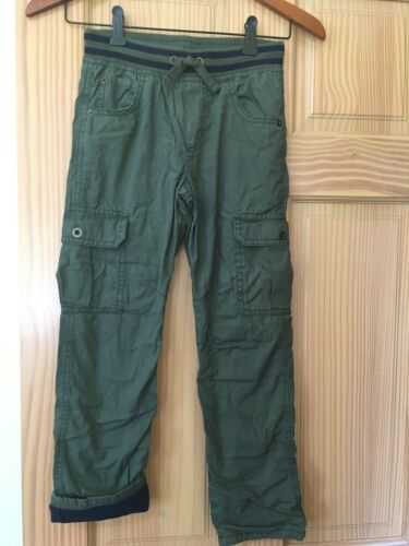 NWT Gymboree Boys Pull on Pants Jersey Lined Olive Cargo 7//8,14