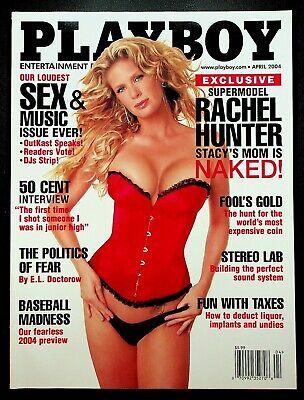 Playboy Magazine April 2004 VG Rachel Hunter Stacys Mom 50