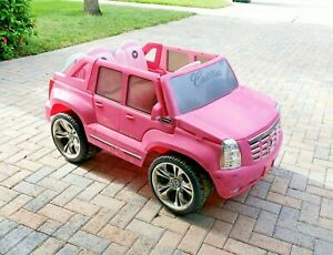power wheels barbie pink cadillac with 12 v battery ebay ebay