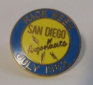 Details about 1982 San Diego Argonauts Race Week - Model Yachting - AMYA -  Pinback Button
