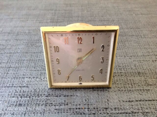 Vintage LSM Swiss Travel Alarm Clock Movement No Case