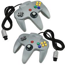 2pcs New Gray Long Handle Controller Pad Joystick for Nintendo 64 N64 System