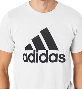 Adidas-Men-039-s-LG-Tee-Shirt-Badge-of-Sport-Classic-White-Black-Adult-Large-CE5313