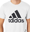 Adidas-Men-039-s-LG-Tee-Shirt-Badge-of-Sport-Classic-White-Black-Adult-Large-CE5313 thumbnail 1