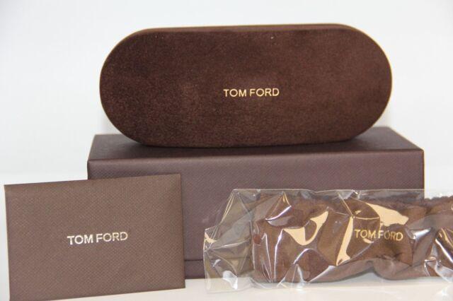 NEW TOM FORD SUNGLASSES EYEGLASSES OPTICAL HARD MEDIUM BROWN CASE CASE