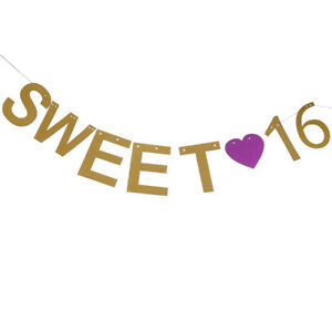 1-Set-Glitter-16th-Happy-Birthday-Garland-Girls-Sweet-16-Banner-Hanging-Decor