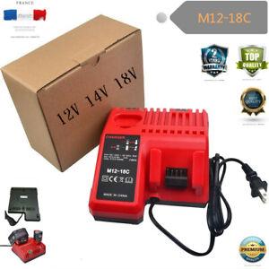 Batterie-Chargeur-14V-18V-12V-Milwaukee-M12-18C-M12B2-M12B4-M18B5-M18B9-M14-C18B