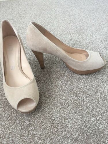 Cream 4 Once Eur Ladies 37 Worn Unisa Peeptoe Court Immac Shoes Uk Beige Suede 87CRwCx5q