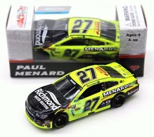 NASCAR 2017 PAUL MENARD RICHMOND WATER HEATERS MENARDS 1 64 DIECAST CAR