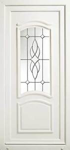 Paris UPVC Front Door with Bevelled & Leaded Glass