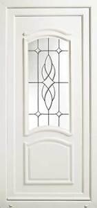 Paris UPVC Front Door with Bevelled & Leaded Glass