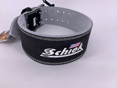 NEW SCHIEK Competition Power Weight Lifting Belt Leather BLACK 6010 LARGE | eBay