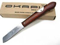 Okapi Wood Handle Biltong Straight Folding Pocket Knife Ko197940