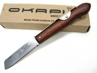 Okapi Wood Handle Biltong Straight Folding Pocket Knife Ko197940