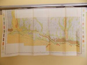 Antique 1902 Soil Map Holly CO Amity Granada Carlton Buffalo Approx 29 X 19