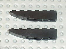 LEGO 2 black slope brick ref 500 / 10210 7786 8141 7143 4403 7644 7692 7044 3569
