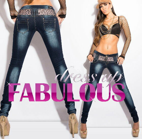 NEW SEXY WOMEN'S DESIGNER SKINNY JEANS Size 10 12 14 6 8 XS S M L XL DENIM PANTS