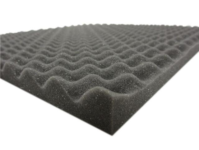 Acústica Noppenschaumstoff 40 Piezas 49x49x2 cm Goma Espuma con Pirámides