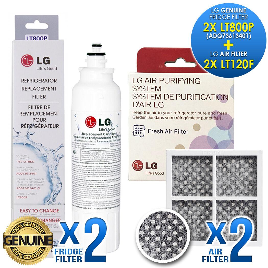 2X Genuine LG LT800P ADQ73613401 WITH 2X LG LT120F Pure N Fresh COMBO GF-5D712SL