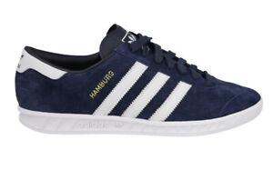 Adidas Originals Hamburg Men's S74838 Dark Navy Blue Suede Leather ...