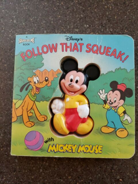 Vintage 1994 Disney's Follow That Squeak Children's Book With Mickey Mouse