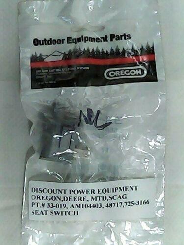 48717 Scag PT.# 33-019 725-3166 MTD AM104403 Oregon Seat Switch Deere