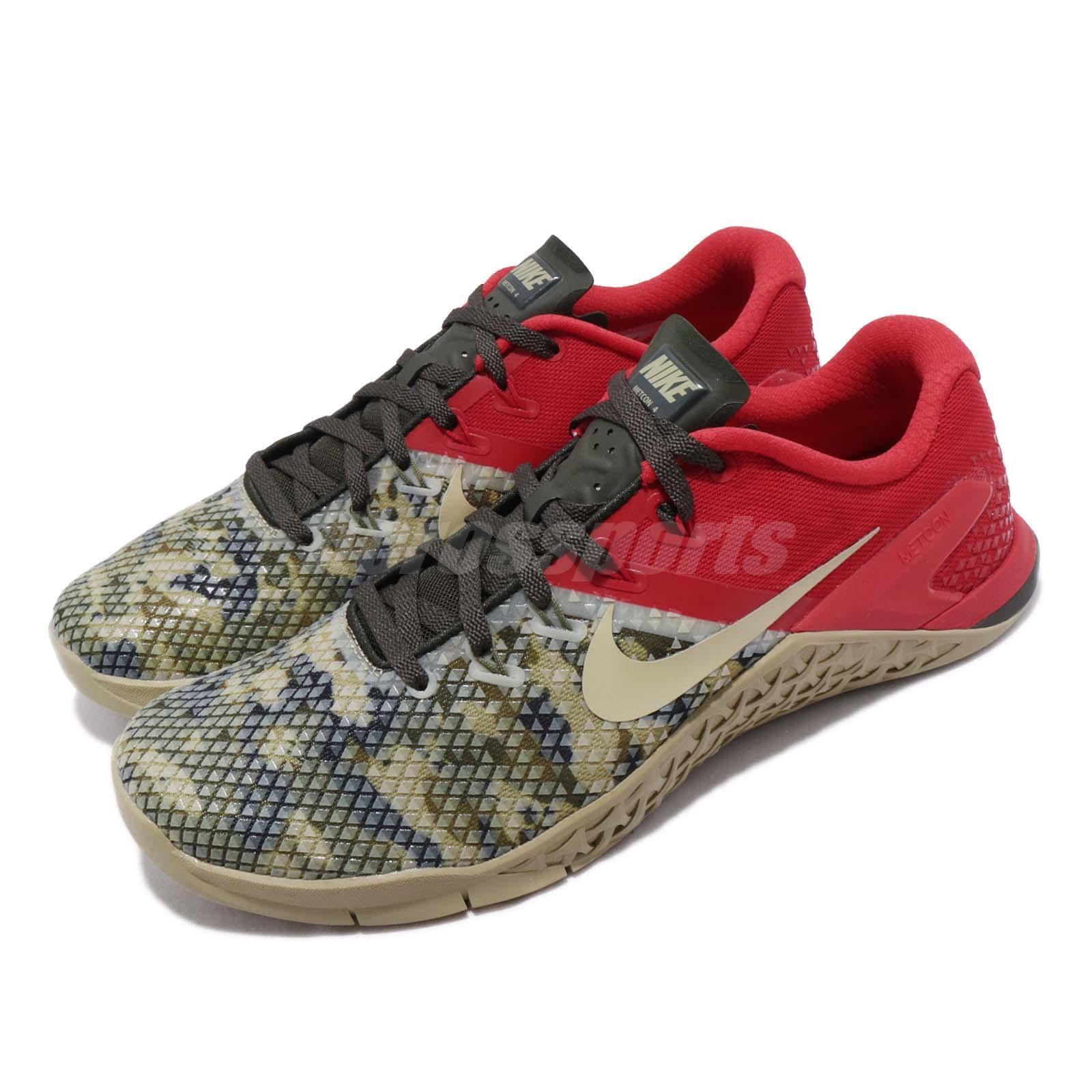 Nike Metcon 4 XD IV Sequoia rojo Camo Men Cross Training zapatos zapatilla de deporte BV1636-301