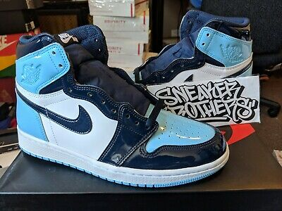 Nike Women S Air Jordan I 1 High Og Chill Blue Obsidian White