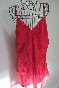 Euc Inventive Morgan Taylor Red Short Nightgown/slip Size M