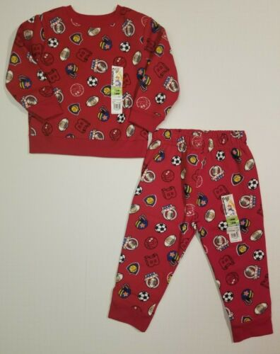 Garanimals Sweatshirt Sweat Pants Boys Sports Red Outfit 6-9 18 24 Months 12