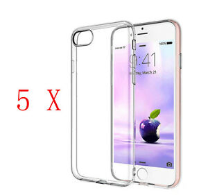 5-Pieces-Ultra-Fine-Silicone-Souple-Transparent-TPU-Coque-pour-IPHONE-7-7-Plus