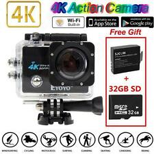 "SJ9000 4K HD WiFi Sports Action Camera 2.0"" LCD 16MP +Extra 2 Batteries+32GB SD"