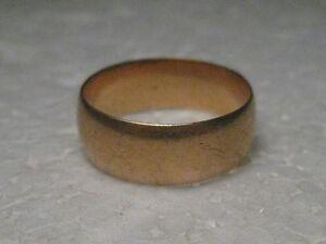 Vintage-14kt-Gold-7mm-Wedding-Band-1860-039-s-Victorian-signed-FSH-5-08-gr